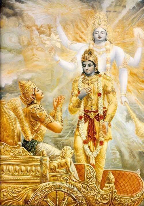 Krishna and Arjun in Mahabharat