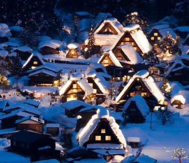 જાપાન નો એક ગામ છે શહેરો ના ટક્કર માં