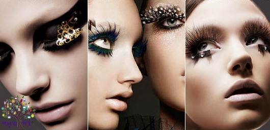 In the eyes ... False Eyelashes