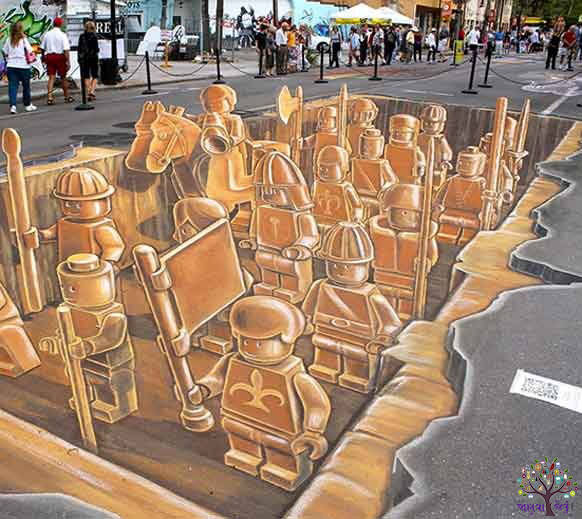 8 of the world's best thri-D Street Art Creation, see image