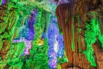 China Rainbow Cave, where flows romantic rivers, see image