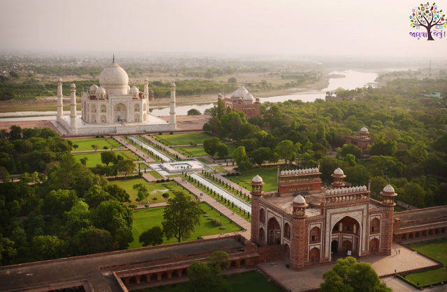 15 beautiful locations around the world, including the Taj Mahal