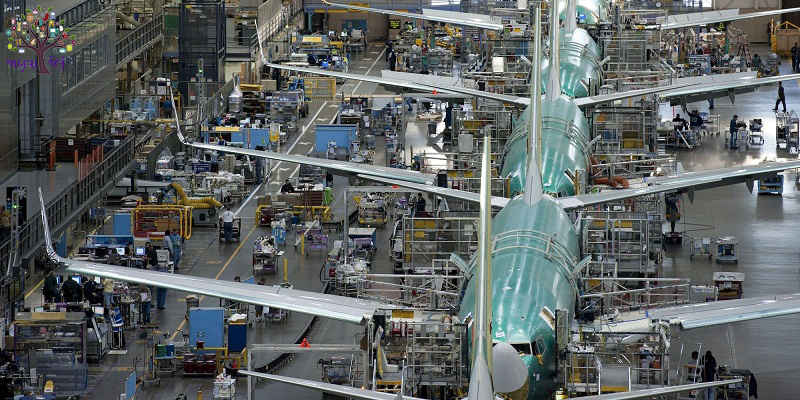 While preparing the world's largest aircraft, the Airbus factory