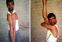This is the Indians 'Rubber Man', has made World records
