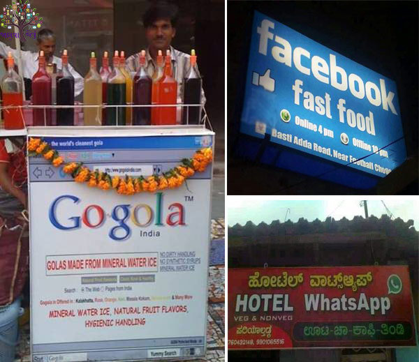 Facebook and Google's name fastfood  Gola, is such a business