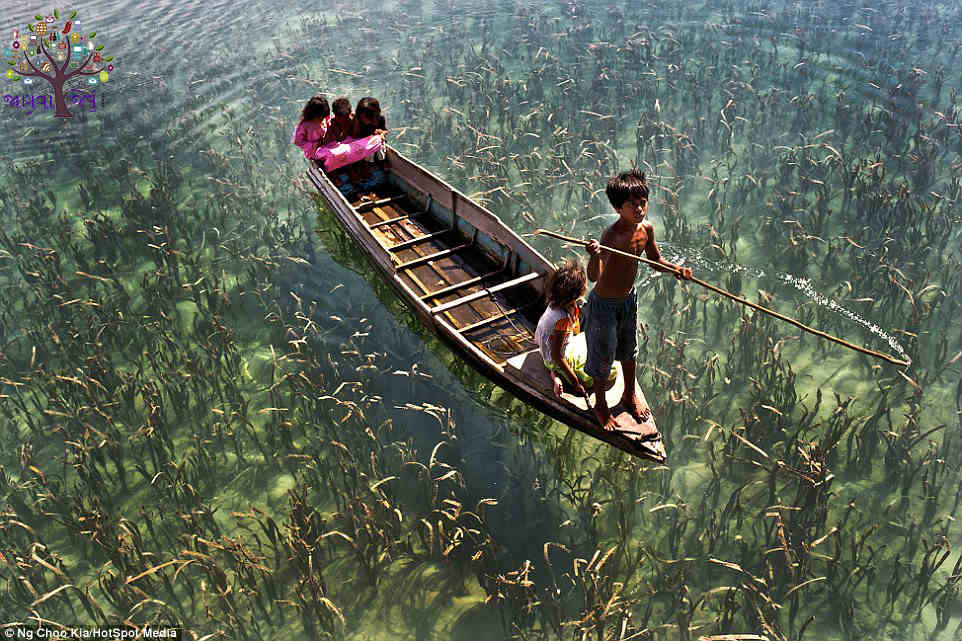 These people do not get to live in the land, on the water passes through the whole life