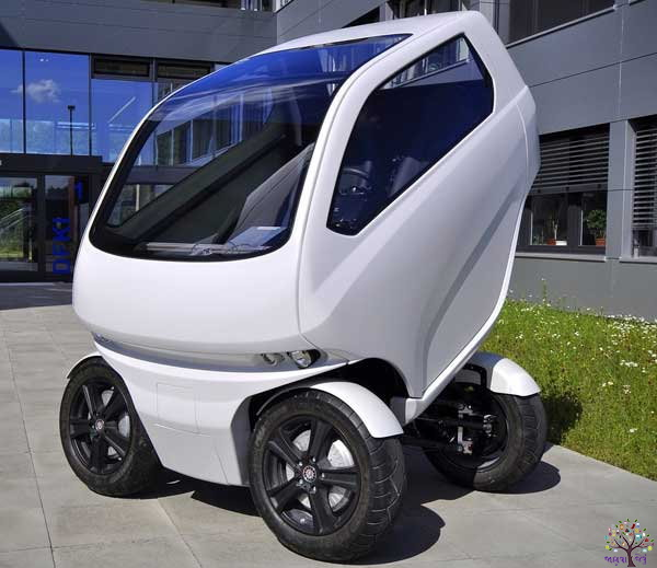 A car, which is shaped by the changes and contracts