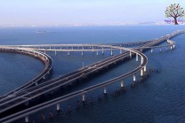 China World's longest bridge built over the sea, has a length of 42 KM