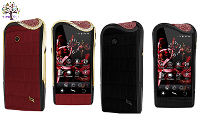 As precious jewelery is expensive luxury smartphones, priced at Rs. 5 lakh