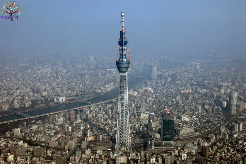 This is the world's tallest tower, Tokyo Sky Tree, Japan's number before