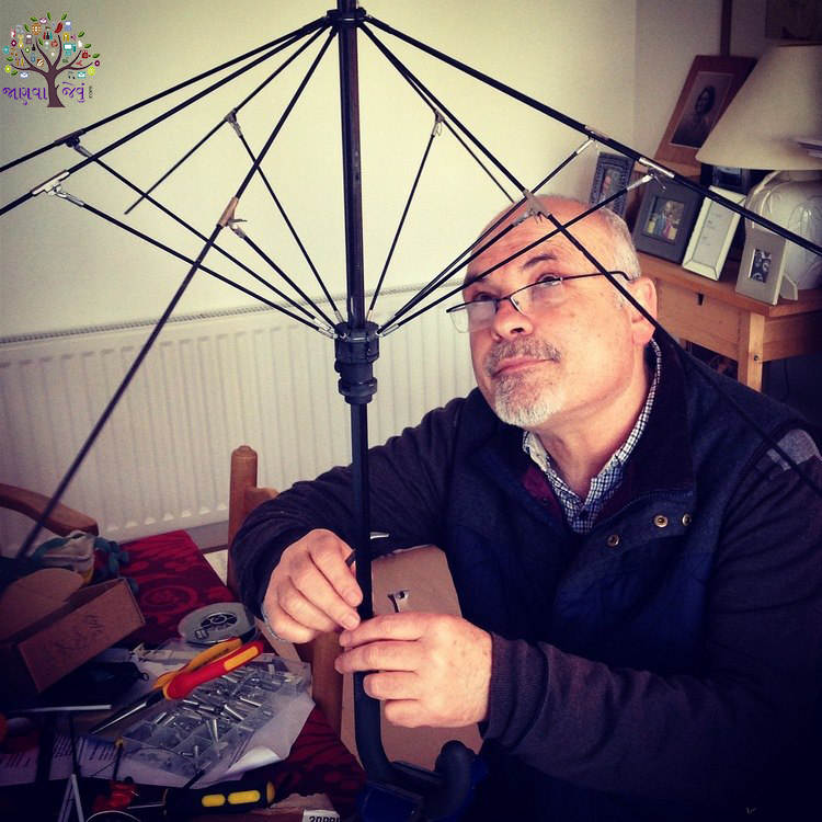 Unique umbrella, which will crow, but will not Wet