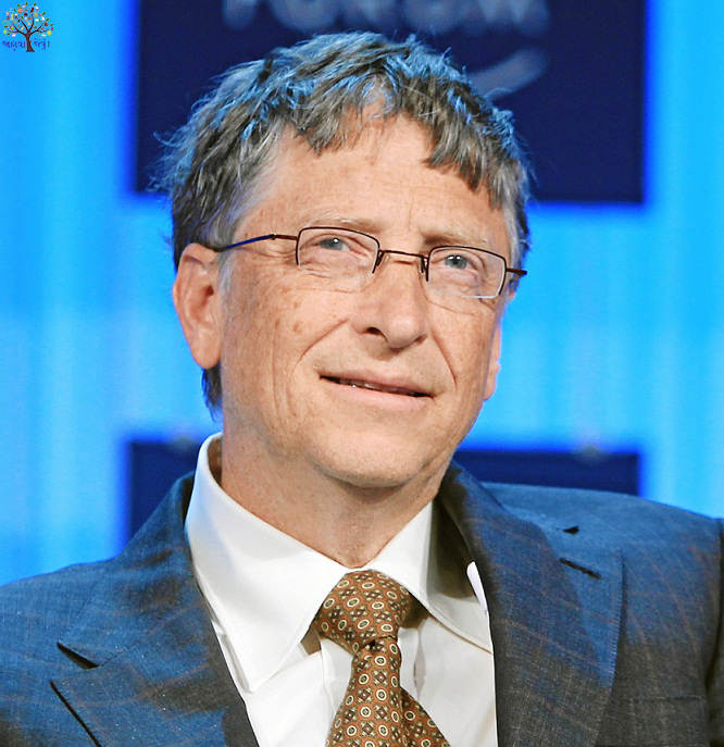Bill Gates made of gold, allow students to give life advice