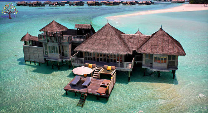 This unique hotel in the world, water is above 45 Villa