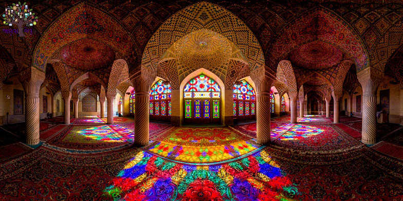 The beautiful pink Jannat world's mosque, the house of Allah Noor is a trickle!