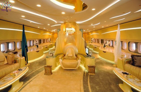 The Saudi Prince flying palace called the world's most expensive Plene