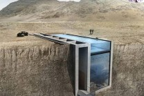 Luxoury house architect built between two rocks, viral
