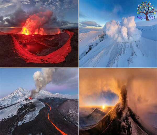 Russian photographers having to click a deadly volcano in the world