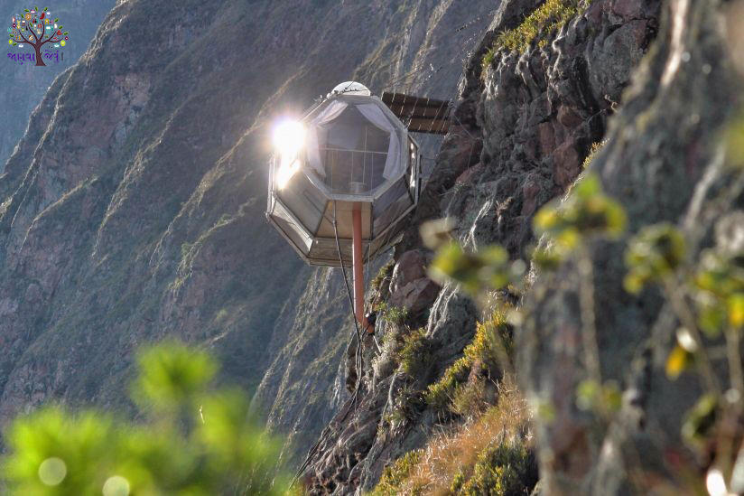 On a high mountain capsule hotels, self-cost of living rent 20,000