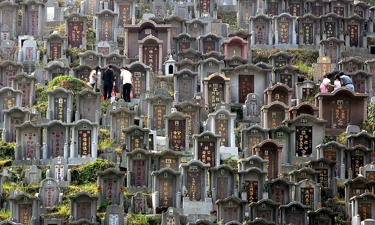 This is Chinese Cemetery in Hong Kong