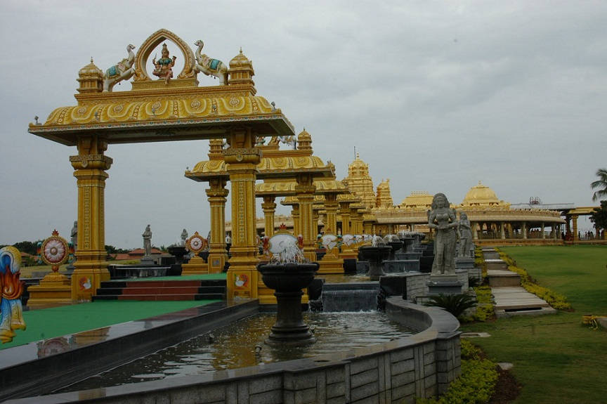 Lakshmi temple the is built of 15,000 kg of pure gold