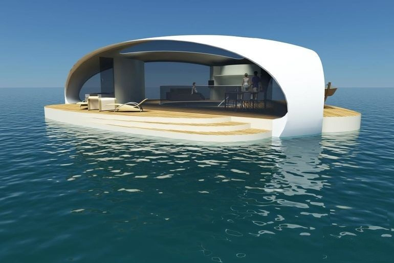 Architecture Building Luxurious floating villa, you will be astounded