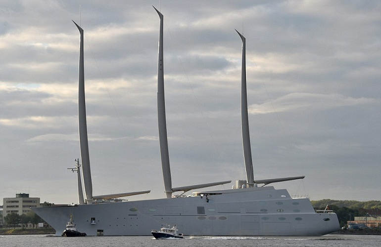 russian billionaire unveils his 260m Luxurious yacht | Janvajevu.com