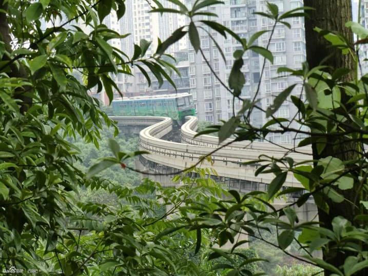 china chongqing yuzhong monorail rail network