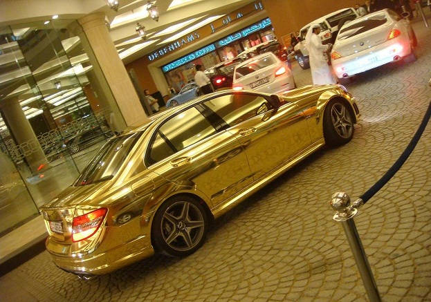 the-gold-mercedes