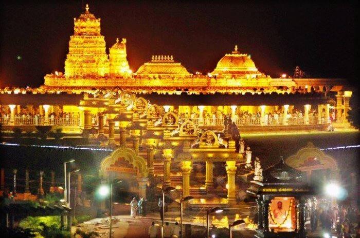 Tirupati-Temple-at-night