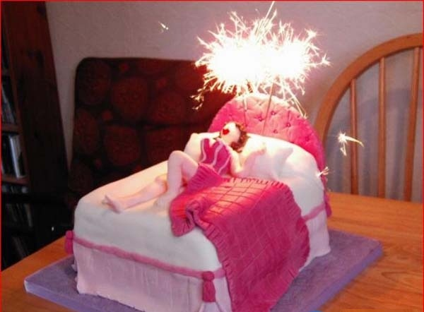 Funny-woman-in-bed-birthday-cake