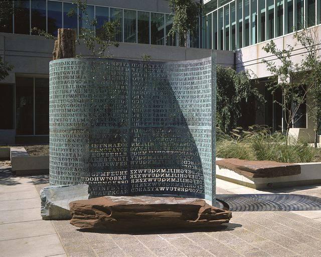 Kryptos_sculptor