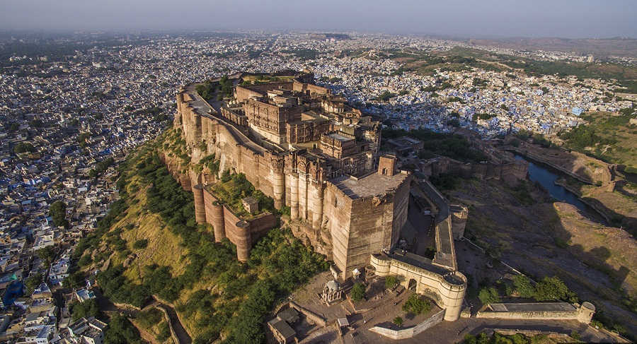 Mehrangarh-Fort-Aerial-View