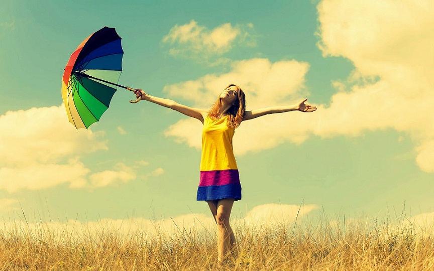 Relaxing-mood-girl-with-umbrella