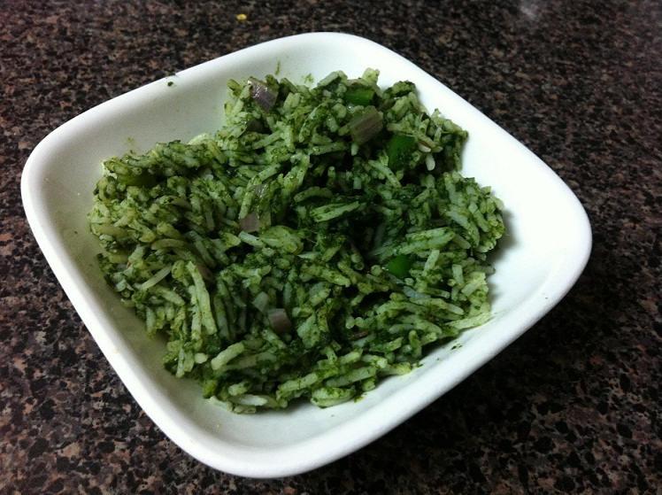 garlic spinach raice recipe
