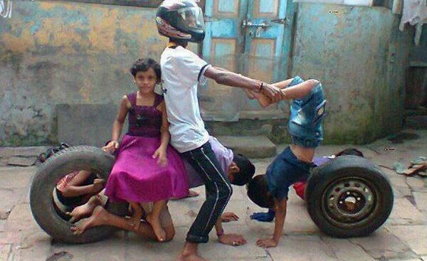 Funny-Indian-Human-Riding-Bike-6