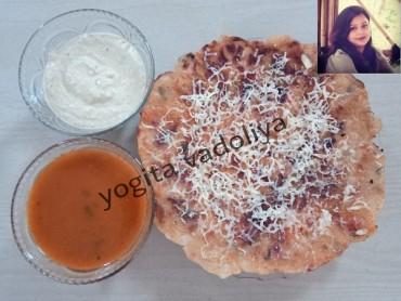 ચીઝ ગાર્લિક મસાલા રવા ઉતપમ – ચાલો આજે ન્યુ અંદાજમાં સાઉથ ઇન્ડિયન ફૂડ બનાવીએ……