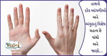 તમારા હાથની આંગળીઓની આ રસપ્રદ માહિતી તમે પહેલાં નહિ જાણી હોય…
