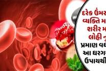 દરેક ઉંમર ના વ્યક્તિ માટે, શરીર મા લોહી નુ પ્રમાણ વધારો આ ઘરગથ્થુ ઉપાયથી…