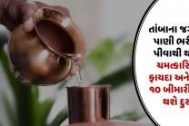 તાંબાના જગમાં પાણી ભરીને પીવાથી થશે ચમત્કારિક ફાયદા અને આ ૧૦ બીમારીઓ થશે દુર
