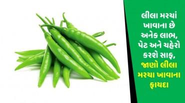 લીલા મરચાં ખાવાના છે અનેક લાભ, પેટ અને ચહેરો કરશે સાફ, જાણો લીલા મરચા ખાવાના ફાયદા