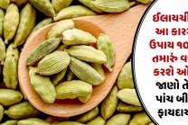 ઈલાયચી નો આ કારગર ઉપાય ૧૦૦% તમારું વજન કરશે ઓછું, જાણો તેના પાંચ બીજા ફાયદાઓ