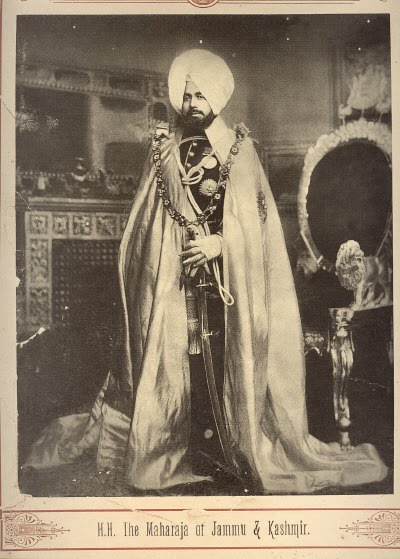 The Maharaja of Jammu and Kashmir - Late 19th Century Photograph