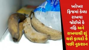 ખરેખર ફ્રિજમાં કેળા રાખવા જોઈએ કે નહિ અને રાખવાથી શું થશે ફાયદો કે પછી નુકશાન