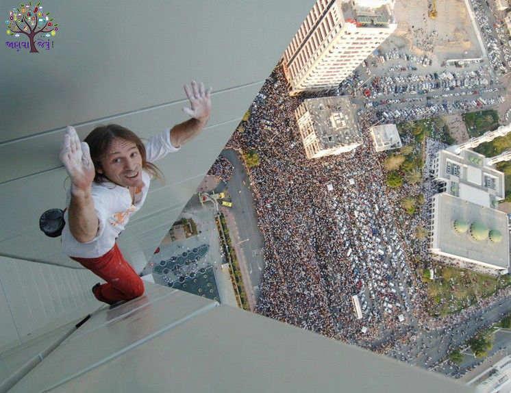 સ્પાઇડરમેન ચઢી ગયો 307 મીટર ઉંચી બિલ્ડિંગ પર, જોતા રહ્યાં હજારો લોકો