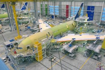 વિશ્વના સૌથી વિશાળ એરબસ વિમાન તૈયાર કરતી ફેક્ટરી