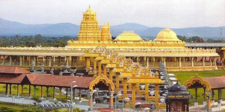 Lakshmi temple the is built of 15,000 kg of pure gold