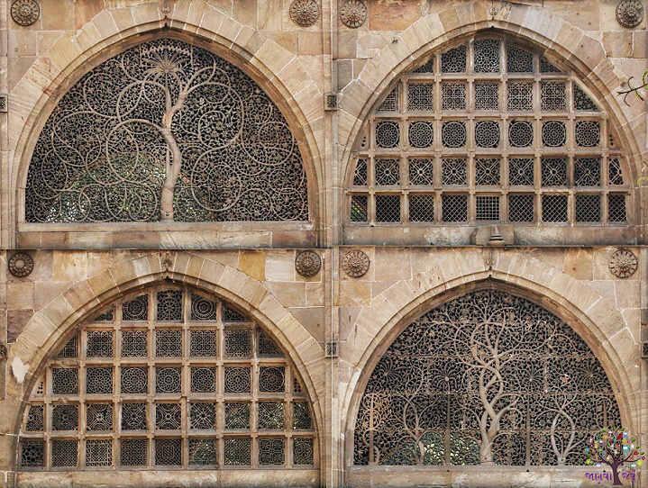 સીદી સઈદ મસ્જિદ – એક આકર્શિત કોતરણી કામ નો નમુનો