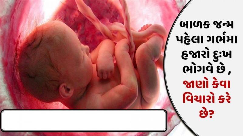 બાળક જન્મ પહેલા ગર્ભમા હજારો દુઃખ ભોગવે છે , જાણો કેવા વિચારો કરે છે?