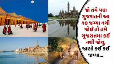 જો તમે પણ ગુજરાતની આ ૧૦ જગ્યા નથી જોઈ તો તમે ગુજરાતમા કઈ નથી જોયુ, જાણો કઈ કઈ જગ્યા…